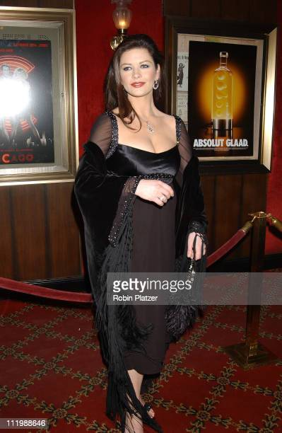 Catherine ZetaJones during 'Chicago' Special Screening to Benefit GLAAD and Broadway Cares at The Ziegfeld Theater in New York City New York United...