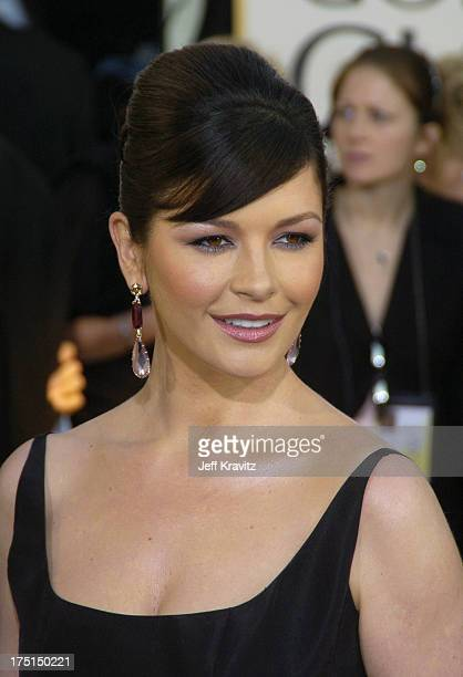 Catherine ZetaJones during The 61st Annual Golden Globe Awards Arrivals at The Beverly Hilton Hotel in Beverly Hills California United States