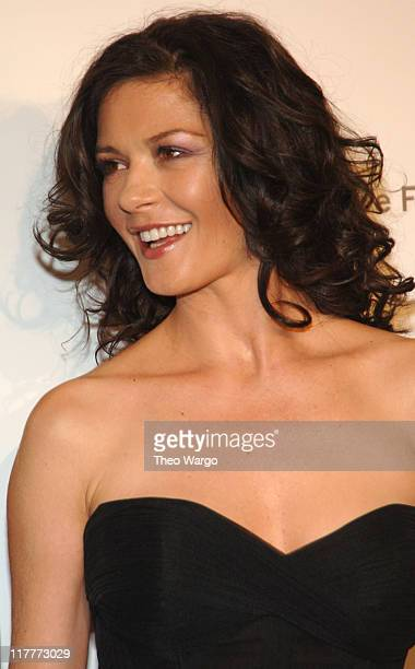"""Catherine Zeta-Jones during The Christopher Reeve Foundation's """"A Magical Evening"""" - Red Carpet at Marriott Marquis in New York, New York, United..."""
