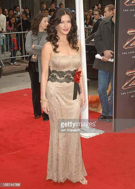 Catherine ZetaJones during 'The Legend of Zorro' Los Angeles Premiere Arrivals at Orpheum Theatre in Los Angeles California United States