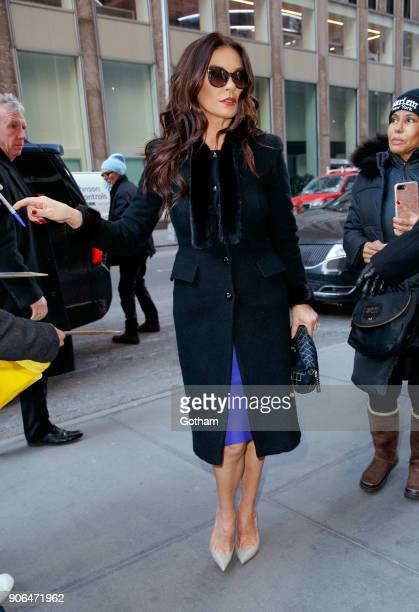 Catherine ZetaJones heads Sirius Studios on January 18 2018 in New York City