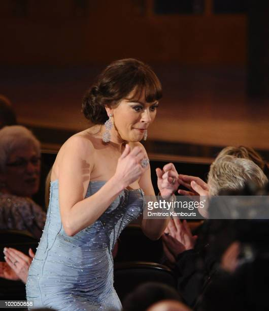 Catherine Zeta-Jones heads to stage to accept her award during the 64th Annual Tony Awards at Radio City Music Hall on June 13, 2010 in New York City.