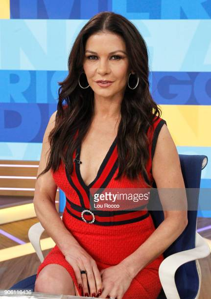 AMERICA Catherine ZetaJones is a guest on Good Morning America Wednesday January 17 2018 on the Walt Disney Television via Getty Images Television...