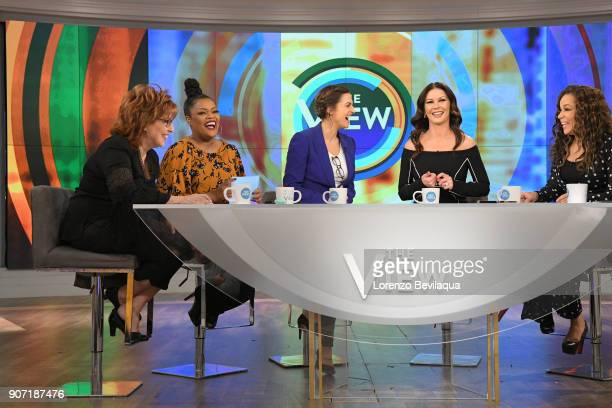 THE VIEW Catherine ZetaJones is the guest today Friday January 19 2018 on Walt Disney Television via Getty Images's the View The View airs...