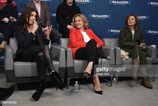 Catherine ZetaJones Jessica Lange and Susan Sarandon take part in SiriusXM's 'Town Hall' with the cast of 'Feud' Town Hall to air on SiriusXM's...
