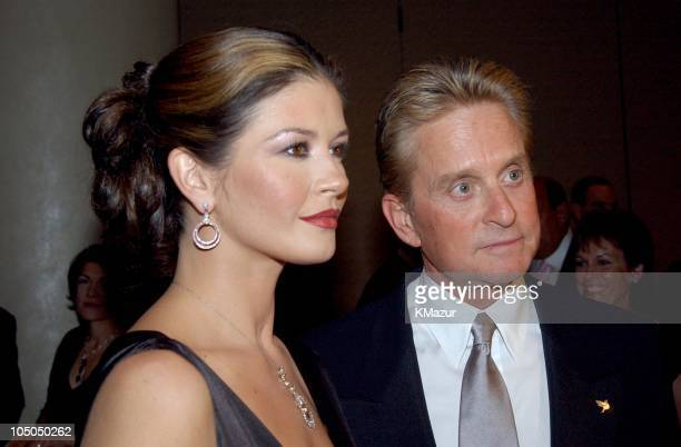 Catherine ZetaJones Michael Douglas during 'Magical Birthday Bash' to Benefit The Christopher Reeve Paralysis Foundation at Marriott Marquis in New...