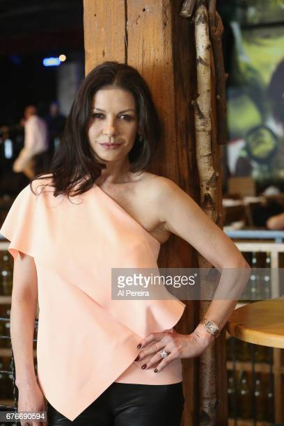 Catherine ZetaJones poses during rehearsals at City Winery Presents a Celebration of the Music of Jimmy Webb at City Winery on May 2 2017 in New York...