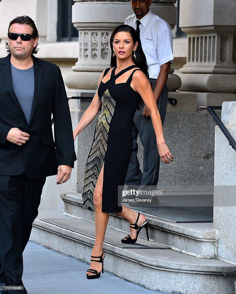 Catherine Zeta-Jones seen on the streets of Manhattan on July 16, 2013 in New York City.