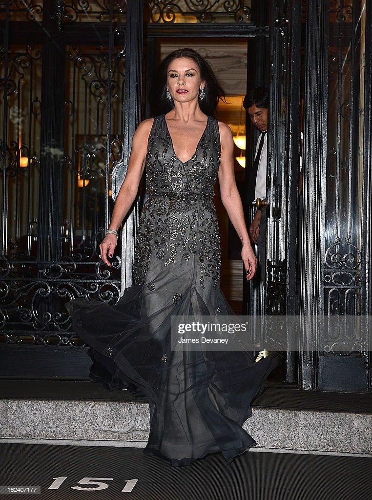 Catherine Zeta-Jones seen on the streets of Manhattan on September 29, 2013 in New York City.
