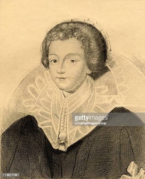 CatherineHenriette d'Entragues 15791633 mistress of Henry IV Photoetching from an old portrait From the book ' Lady Jackson's Works X The First of...