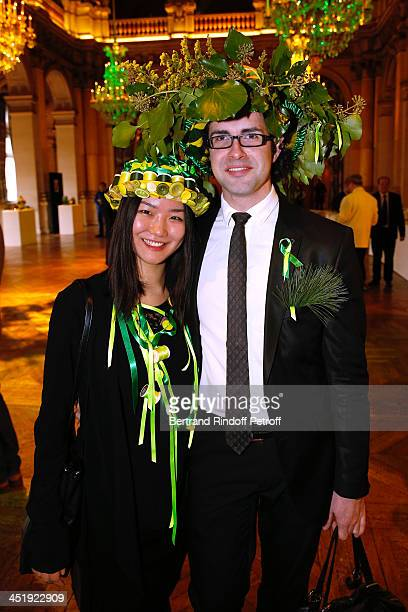 Catherinette and Nicolas from Franck Sorbier attend Sainte-Catherine Celebration at Mairie de Paris on November 25, 2013 in Paris, France.