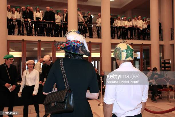 Catherinette and Nicolas of Chanel attend the 'Comite Montaigne' Celebrates SainteCatherine with Maisons de Couture of Avenue Montaigne On this...