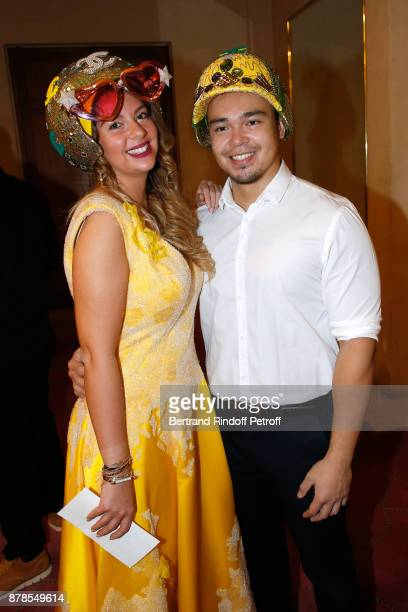 Catherinette and Nicolas of of Chanel attend the 'Comite Montaigne' Celebrates SainteCatherine with Maisons de Couture of Avenue Montaigne On this...