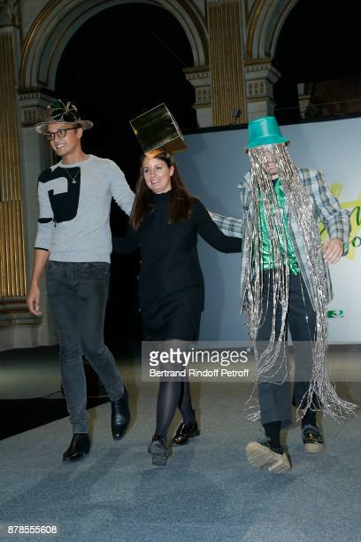 Catherinette and Nicolas of Paco Rabanne attend Maisons de Couture of Paris Celebrate SainteCatherine at Mairie de Paris on November 24 2017 in Paris...