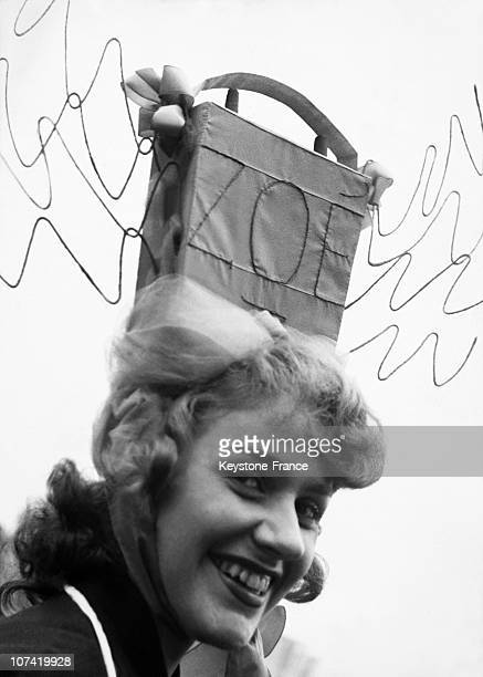 Catherinette Celebrating Feast Of Saint Catherine In Paris On November 19Th 1945