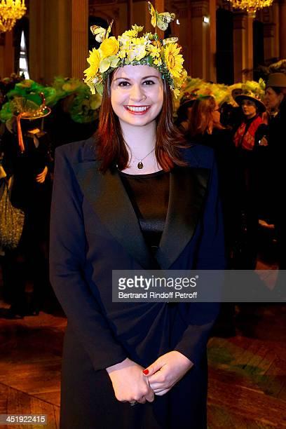 Catherinette from Fondation Pierre Berge - Yves Saint Laurent attends Sainte-Catherine Celebration at Mairie de Paris on November 25, 2013 in Paris,...