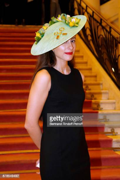 Catherinette Julia Alonsi of Plaza Athenee attends the 'Comite Montaigne' Celebrates SainteCatherine with Maisons de Couture of Avenue Montaigne On...