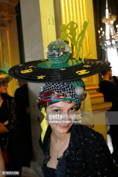 Catherinette of Chanel attends Maisons de Couture of Paris Celebrate SainteCatherine at Mairie de Paris on November 24 2017 in Paris France