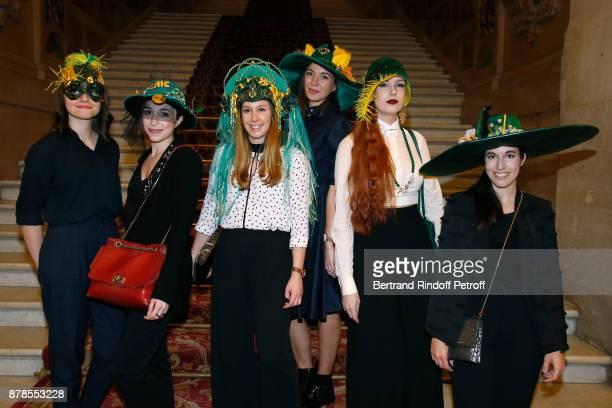 Catherinette of Lanvin attend Maisons de Couture of Paris Celebrate SainteCatherine at Mairie de Paris on November 24 2017 in Paris France