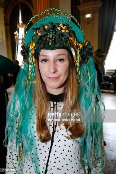Catherinette of Lanvin attends Maisons de Couture of Paris Celebrate SainteCatherine at Mairie de Paris on November 24 2017 in Paris France