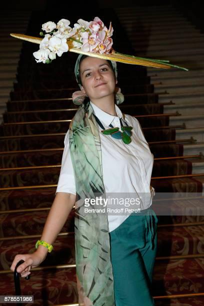 Catherinette of Leonard attends Maisons de Couture of Paris Celebrate SainteCatherine at Mairie de Paris on November 24 2017 in Paris France