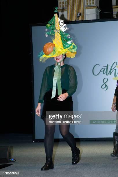 Catherinette of Maison Michel attends Maisons de Couture of Paris Celebrate SainteCatherine at Mairie de Paris on November 24 2017 in Paris France