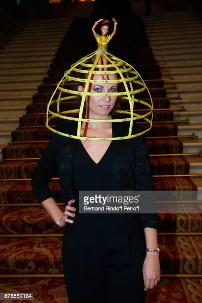Catherinette of Stephane Rolland attends Maisons de Couture of Paris Celebrate SainteCatherine at Mairie de Paris on November 24 2017 in Paris France