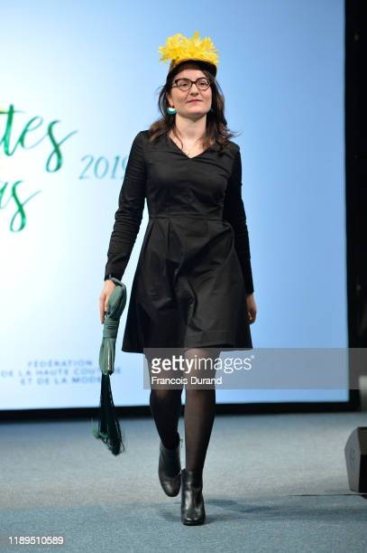 Catherinette walks the runway during the Fete De la Sainte Catherine at Hotel de Ville on November 22, 2019 in Paris, France.