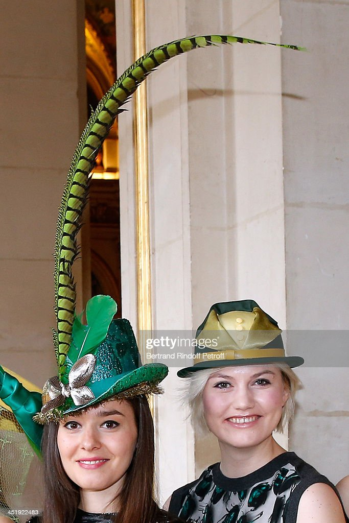 Catherinettes from Lanvin attend Sainte-Catherine Celebration at Mairie de Paris on November 25, 2013 in Paris, France.