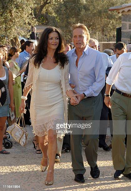CatherineZeta Jones and Michael Douglas during Catherine ZetaJones and Michael Douglas Attend the Opening of the Robert Graves House and Museum July...