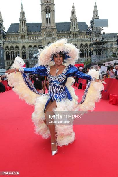 Catherrine Leclery during the Life Ball 2017 at City Hall on June 10 2017 in Vienna Austria