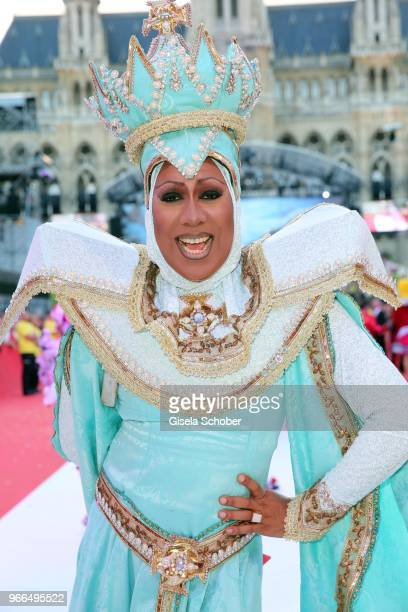 Catherrine Leclery during the Life Ball 2018 at City Hall on June 2 2018 in Vienna Austria The Life Ball an annual charity event raising funds for...