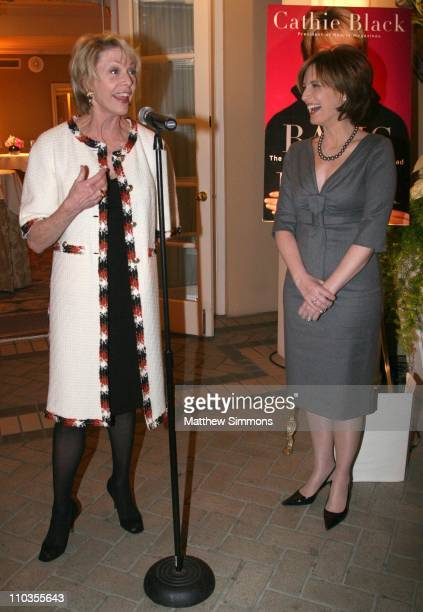 Cathie Black and Anne Sweeney attend a party for Cathie Black's new book 'Basic Black' at the Four Seasons Hotel on November 29 2007 in Beverly Hills...