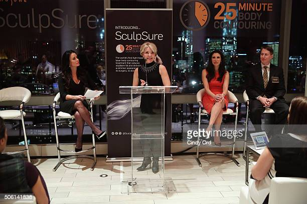 Cathleen Alaimo of SculpSure speaks to editors about SculpSure the world's first lightbased laser body contouring treatment at the SculpSure launch...