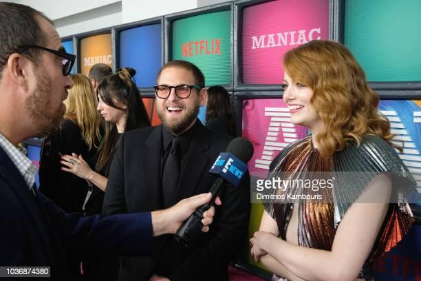Cathleen Cantor Geoffrey Cantor Christian DeMarais and Alana Sivin attend the Netflix Original Series 'Maniac' New York Premiere Screening and After...