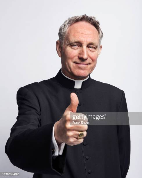 Catholic Archbishop and Prefect of the Papal Household Georg Ganswein is photographed for Suddeutsche Zeitung magazine on April 24 2017 in Vatican...