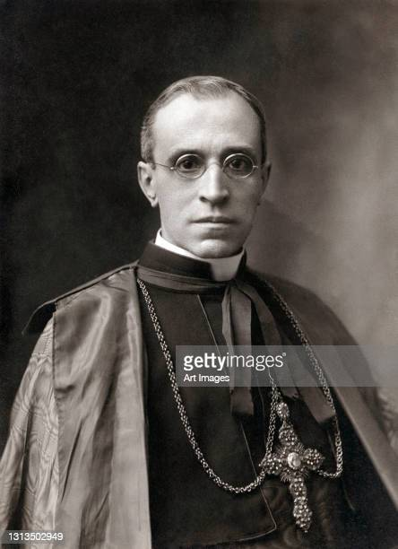 Catholic cardinal, Eugenio Maria Giuseppe Giovanni Pacelli , 1930. Pacelli later reigned as Pope Pius XII, from 2nd March 1939 until his death on 9th...
