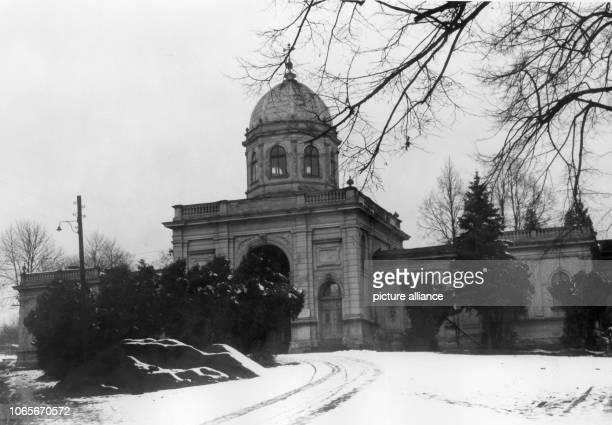Catholic cemetery in Cieszyn Poland in 1957 | usage worldwide