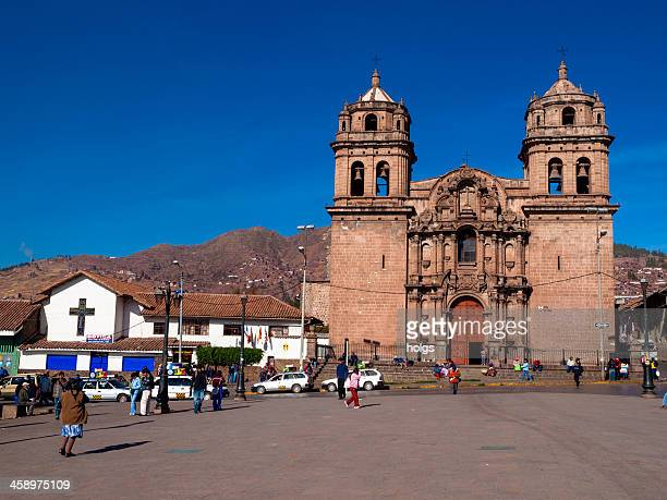 catholic church in cusco, peru - jesuit stock photos and pictures