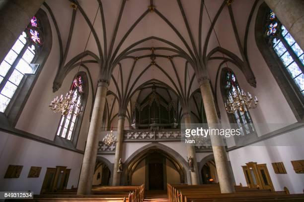 catholic church in liechtenstein - vaduz stock pictures, royalty-free photos & images