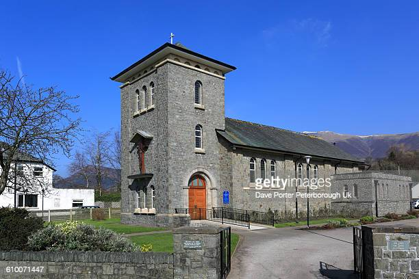 catholic church of our lady of the lakes - keswick stock pictures, royalty-free photos & images
