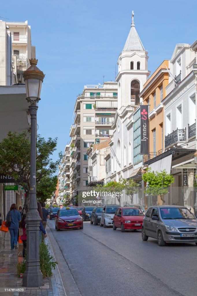 Catholic Church of St. Andrew in Patras : Stock Photo