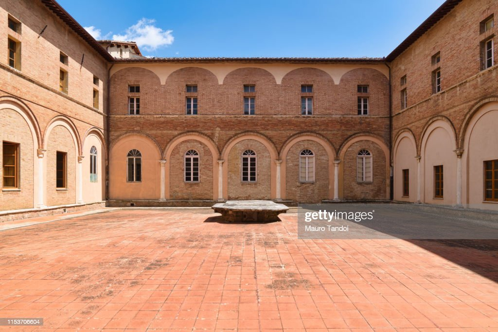 Catholic Church San Clemente in Santa Maria dei Servi, Siena, Tuscany : Foto stock