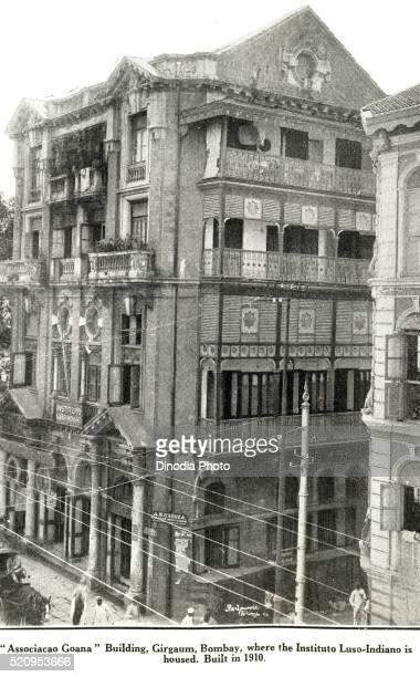 catholic community associacao goana building, girgaum, bombay instituto luso indiano housed mumbai, maharashtra - asiático e indiano fotografías e imágenes de stock