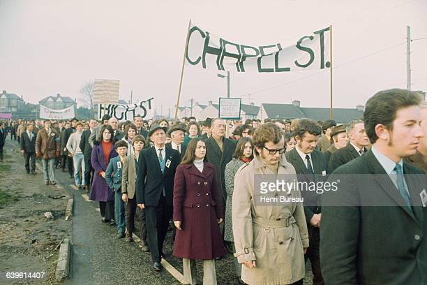 Catholic demonstration in the Falls Road neighborhood