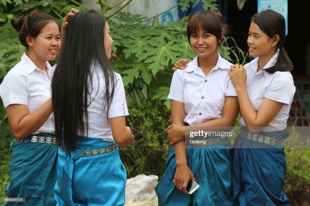 Girls in Battambang