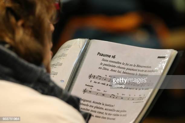 Catholic mass. Psalm. France.