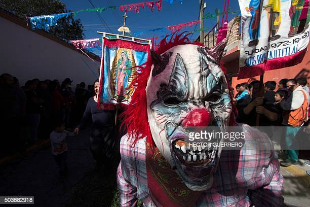 Catholic men in costume participate in the celebration of Epiphanythe festival of the Magi in Cajititlan Jalisco State Mexico on January 7 2016 AFP...