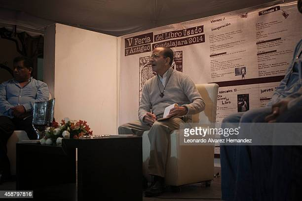 Catholic Mexican priest and human rights activist Alejandro Solalinde attends a press conference as part of Guadalajara International Book Fair on...