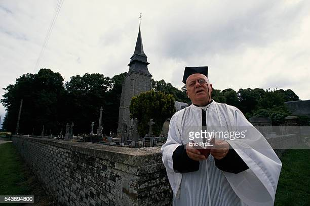 Catholic Priest Quintin MontgomeryWright in Chamblac in Normandy